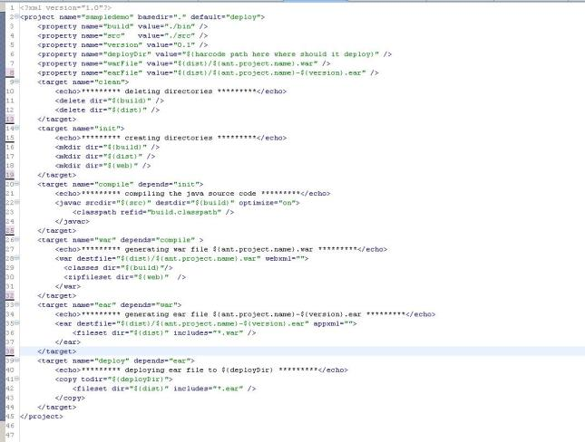 Sample build.xml